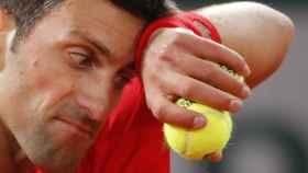 Novak Djokovic, en la final de Roland Garros 2020