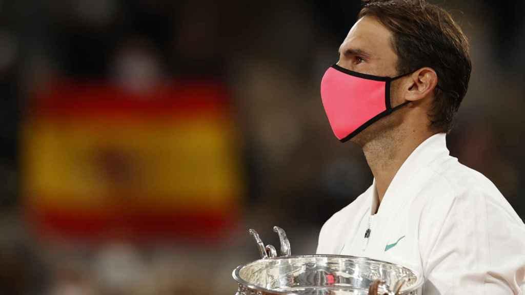 Nadal, durante la ceremonia de premios de Roland Garros.