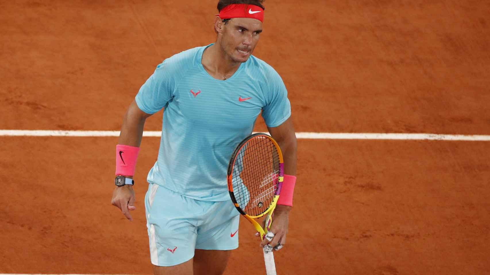 Rafa Nadal, llevarse el primer set de la final de Roland Garros 2020
