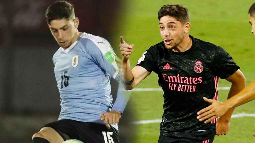 Fede Valverde en el partido de la selección de Uruguay frente a Chile y en el Betis - Real Madrid
