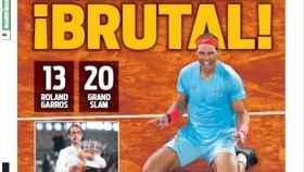 La portada del diario SPORT (12/10/2020)