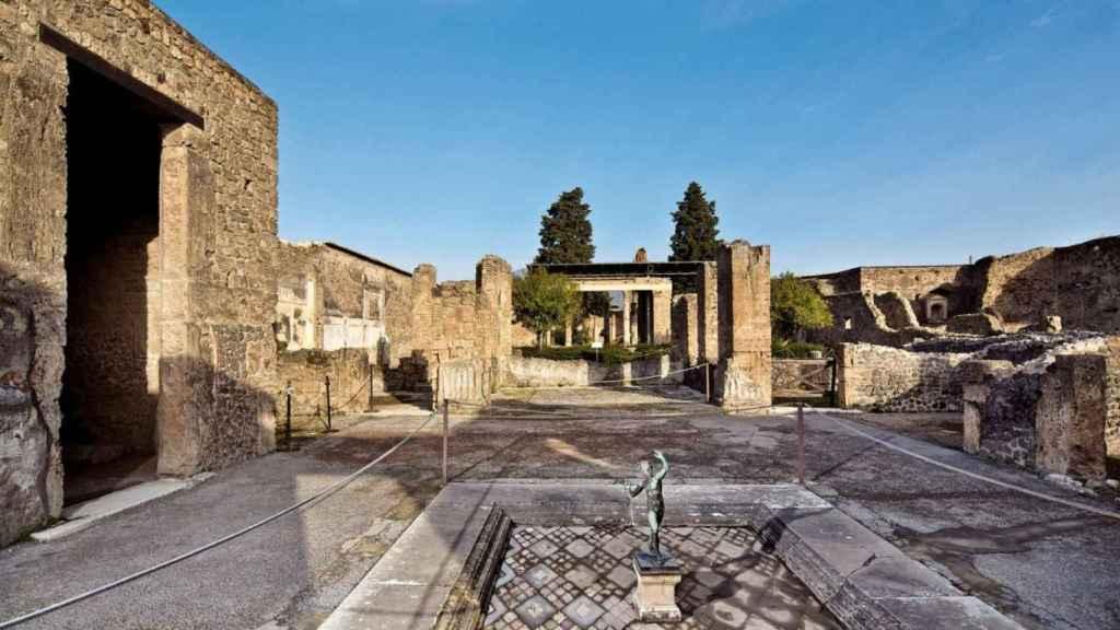 Vista del yacimiento de Pompeya.