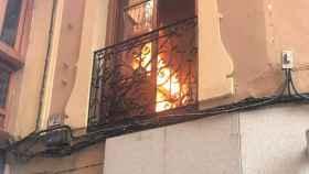 Una imagen del incendio que se ha declarado en la cocina del establecimiento