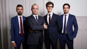 El equipo de gestión y análisis de Lonvia Capital, con Cyrille Carrière en segunda posición por la izquierda.