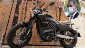 Montaje realizado con la imagen del Rey Felipe VI con la moto Pursang E-Track.