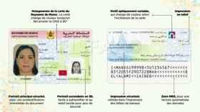 Así es el DNI de Marruecos.