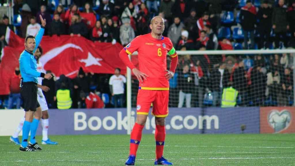 Ildefons Lima, en un partido oficial entre Andorra y Turquía