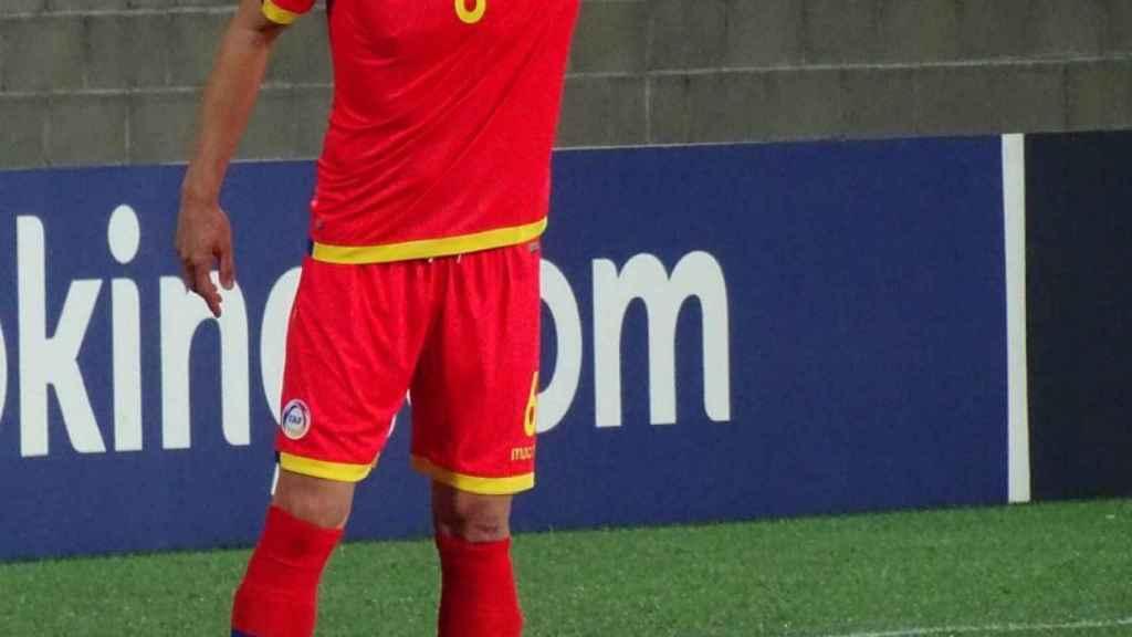 Ildefons Lima, durante un partido oficial con Andorra