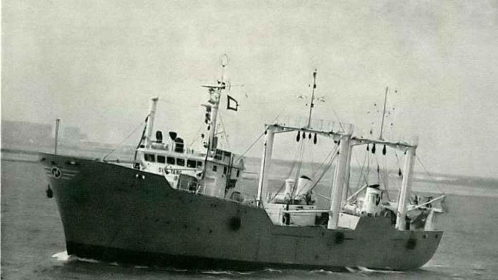 El buque coreano en el que quedó atrapada la víctima.