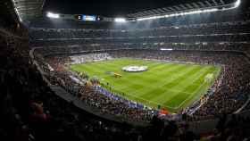 El Santiago Bernabéu en un partido de Champions League