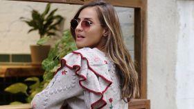 Silvia Zamora (Lady Addict) con chaqueta de Zara.