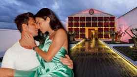 Carla Barber y Diego Matamoros con el restaurante Aponiente al fondo.