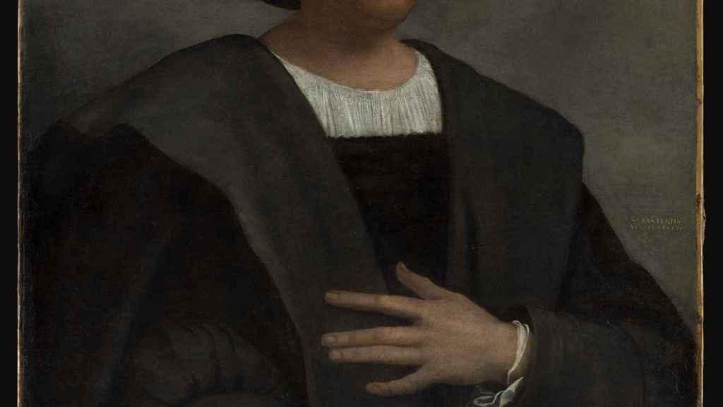 Supuesto retrato de Cristóbal Colón pintado por Sebastiano del Piombo.