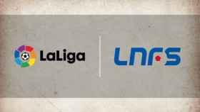 Los logos de LaLiga y la LNFS