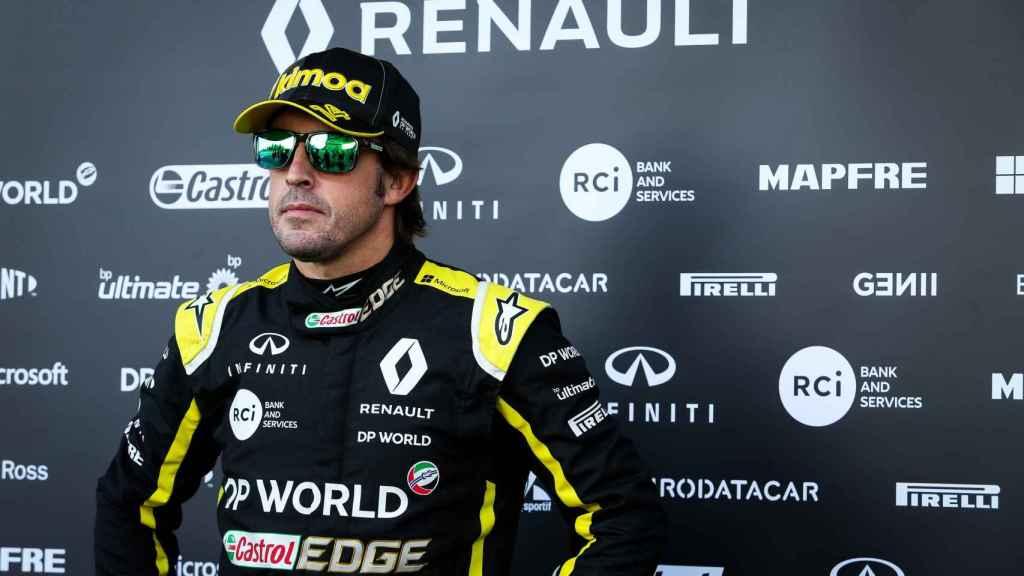 Fernando Alonso, en su primer test con Renault F1