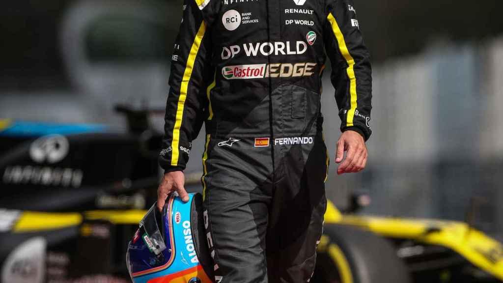 Fernando Alonso, en Montmeló con el Renault F1 de 2020