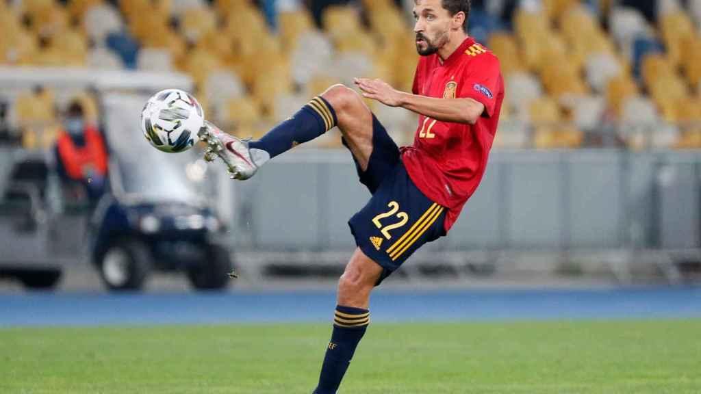 Jesús Navas, en un partido de la selección española de fútbol de la UEFA Nations League