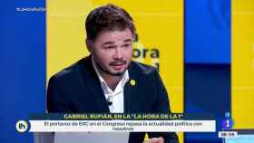 Gabriel Rufián, portavoz de ERC en el Congreso de los Diputados, en TVE.