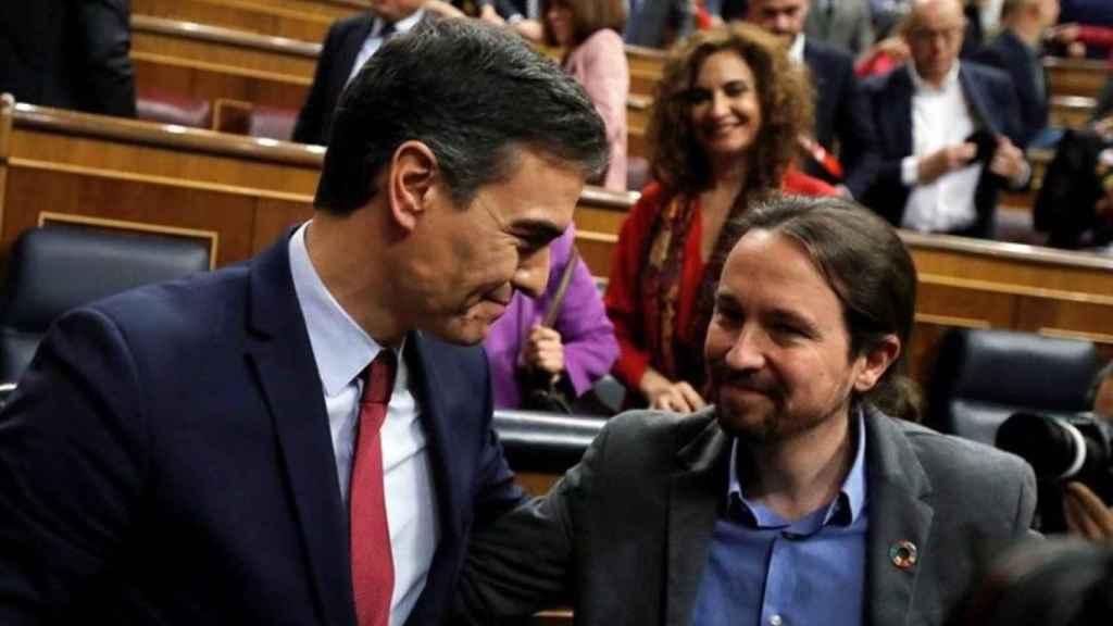 Pedro Sánchez y Pablo Iglesias, en una imagen de archivo./