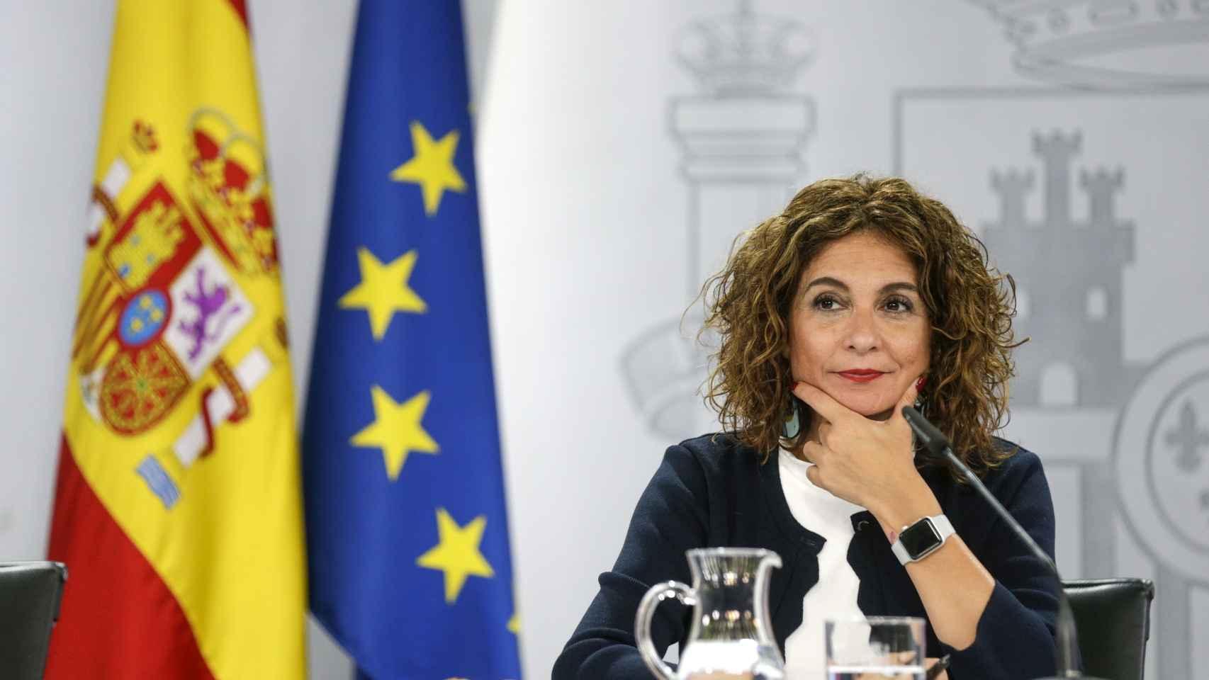 María Jesús Montero, ministra de Hacienda, en la rueda de prensa posterior al Consejo de Ministros.