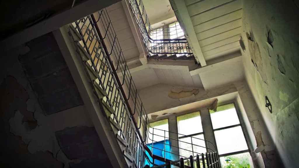 Imagen de archivo de las escaleras de un edificio.