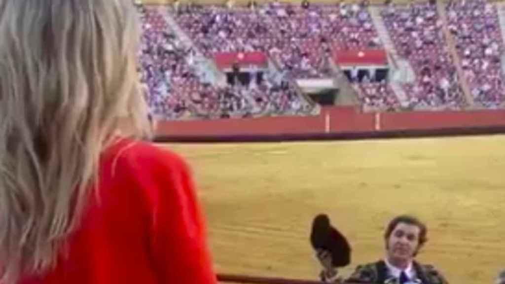Captura del vídeo que compartió Cayetana Álvarez de Toledo.