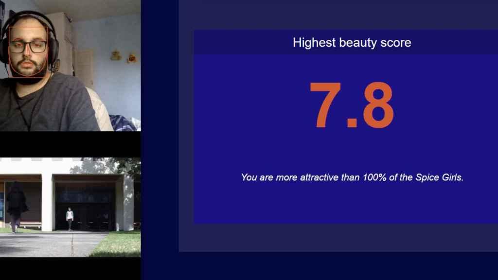 Nivel belleza según algoritmo de reconocimiento facial