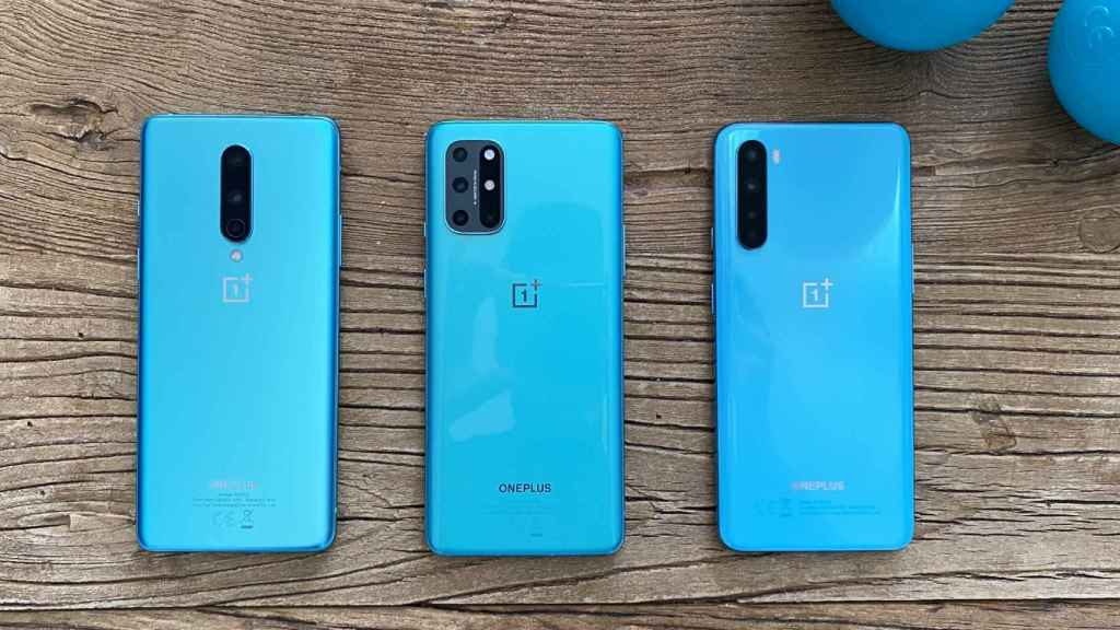 OnePlus 8, OnePlus 8T y OnePlus Nord.