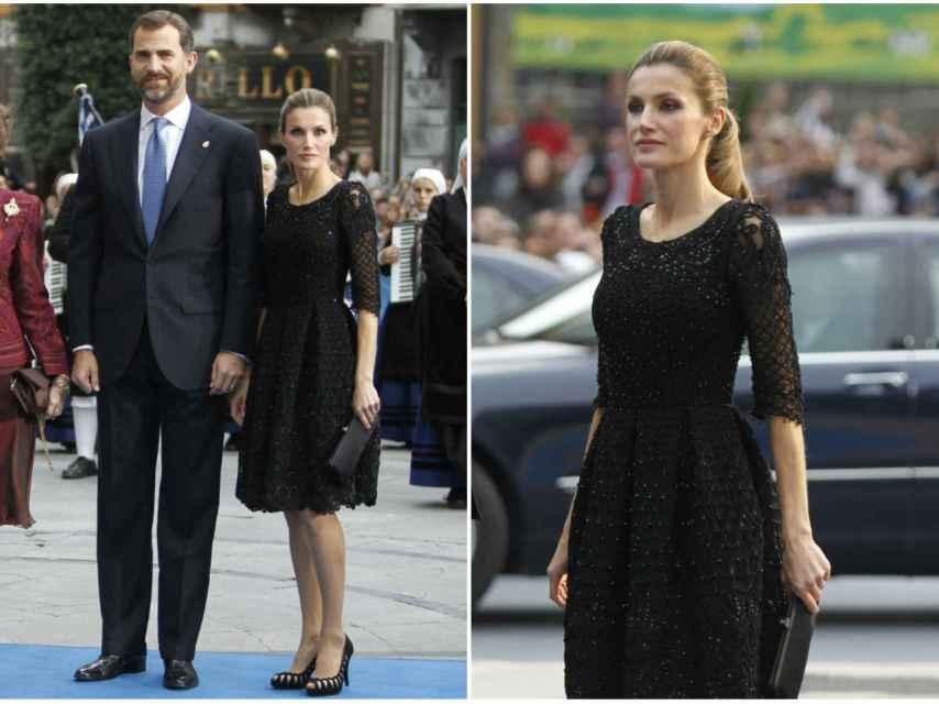 El corte del vestido es uno de los favoritos de la Reina.