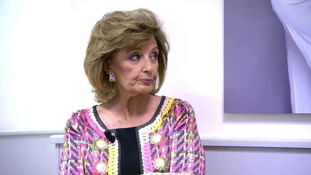María Teresa Campos, durante su polémica entrevista en 'Sábado Deluxe'.