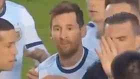 Messi protagoniza una tangana tras el Bolivia-Argentina: ¿Qué pasa, pelado?