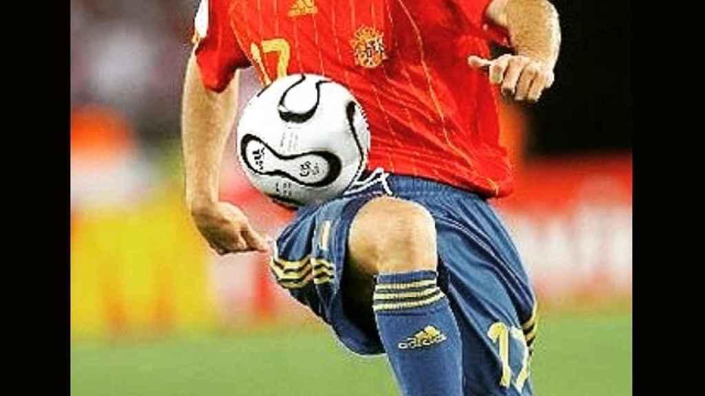 Joaquín Sánchez, en un partido de la selección española. Foto: Instagram (@joaquinarte)