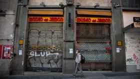 El Museo del Jamón, cerrado.