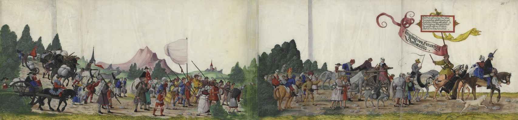 Ilustración de la serie 'Triunfo del Emperador Maximiliano I'.