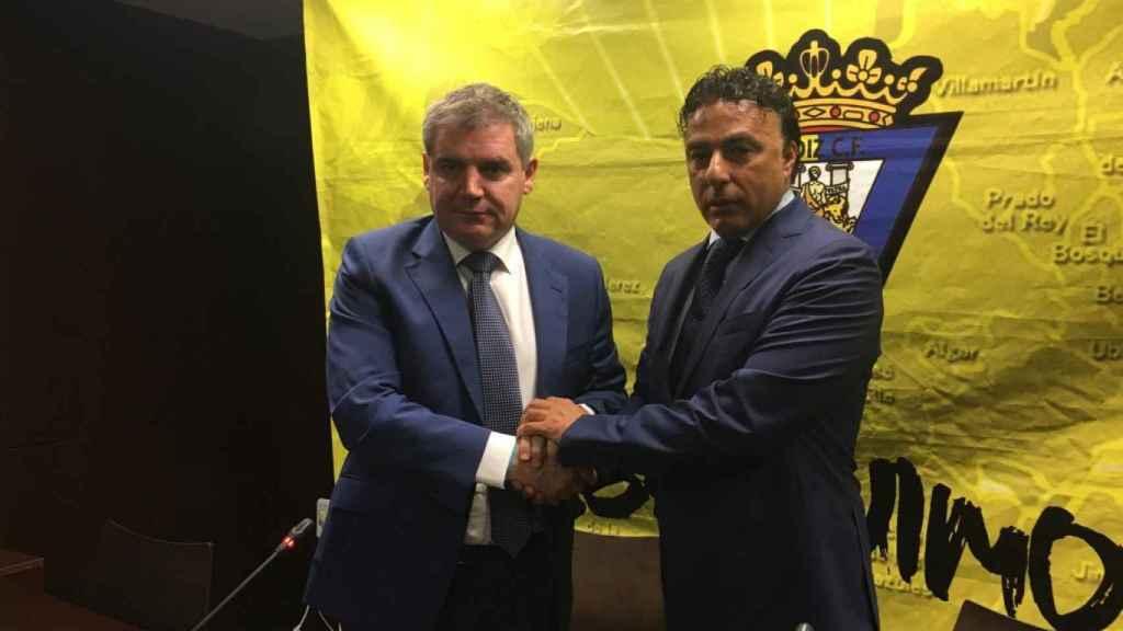 Manuel Vizcaíno y Quique Pina, en 2016