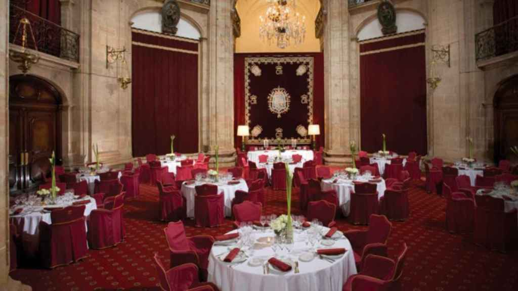 El salón Covadonga, donde se entregarán los Premios Princesa de Asturias.