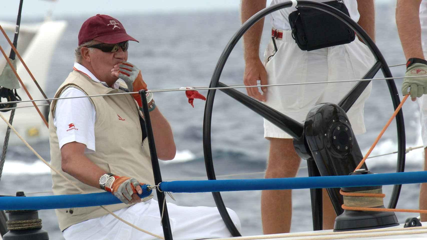 El rey Juan Carlos capitaneando el Bribón.