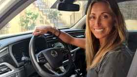Gemma Mengual, embajadora de SsangYong, al volante de su Korando.