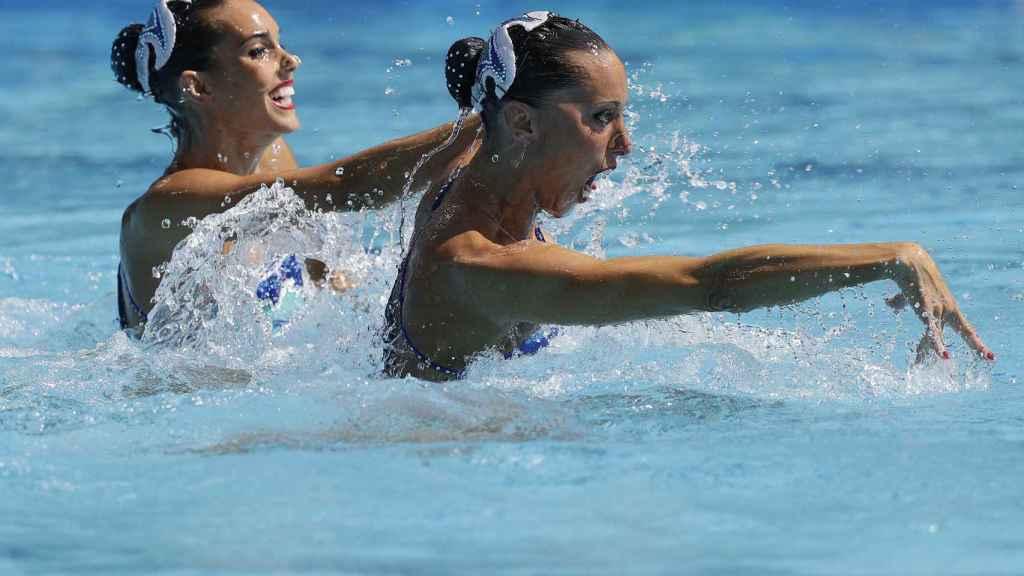 Gemma Mengual junto a Ona Carbonell en los Juegos Olímpicos de Río en 2016.