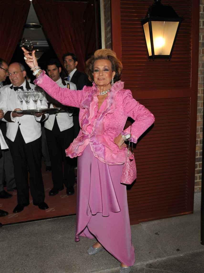 Carmen Sevilla, en la celebración de su 80 cumpleaños.