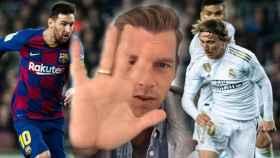 Jota Jordi y su manita para el Barça - Real Madrid en un fotomontaje