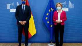 Pedro Sánchez y Ursula von der Leyen, durante su reunión del 23 de septiembre