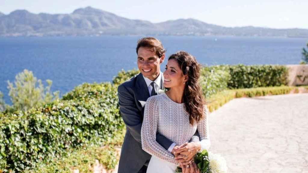 Rafa y Xisca, en una de las fotos oficiales de su boda.