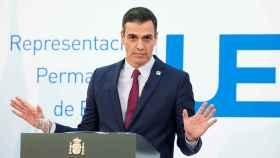 El presidente del Gobierno, Pedro Sánchez, este viernes en Bruselas.