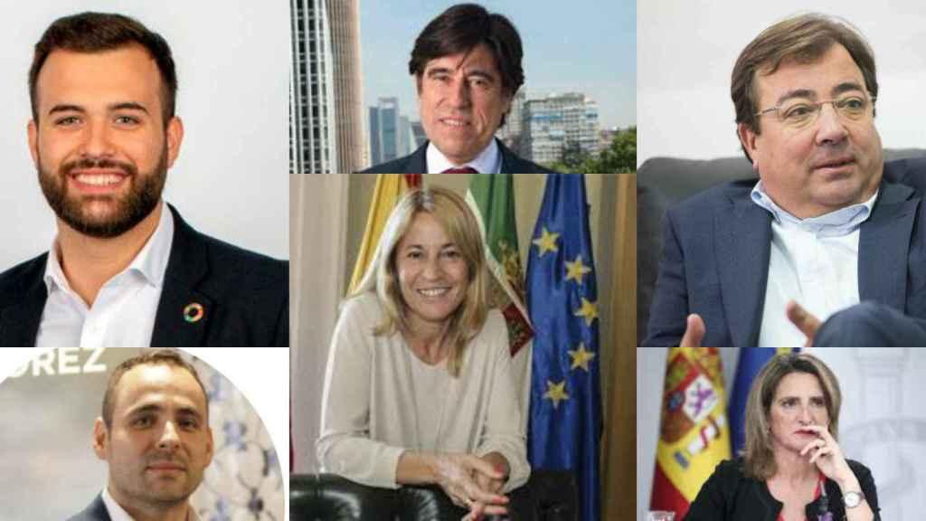 Luis Salaya, Manuel Manrique, Guillermo Fernández Vara, David Valls, Elena Nevado y Teresa Ribera.
