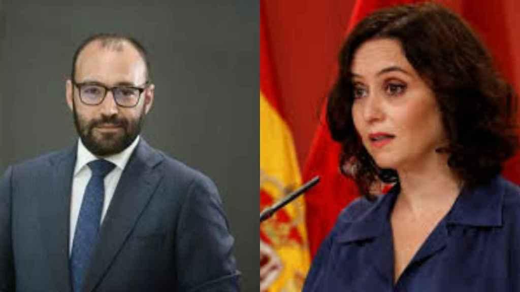 Manuel Giménez e Isabel Díaz Ayuso.