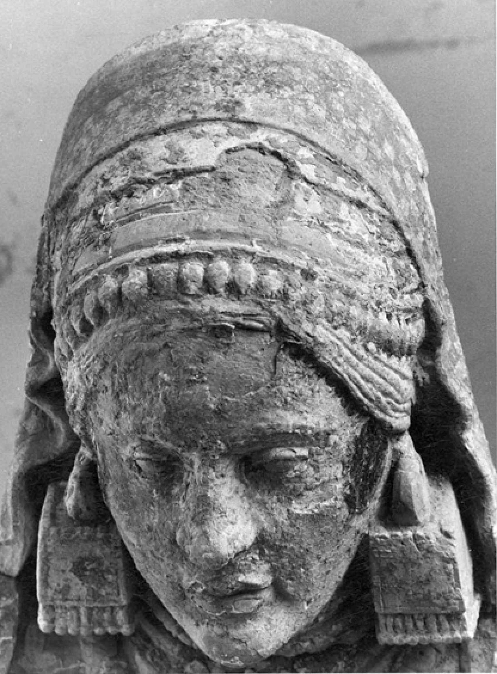 Imagen de la Dama de Baza durante su restauración.