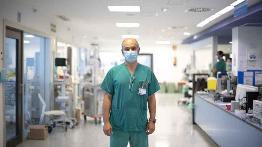 Juan José Rubio, jefe de la UCI del Hospital Puerta del Hierro, en Madrid.