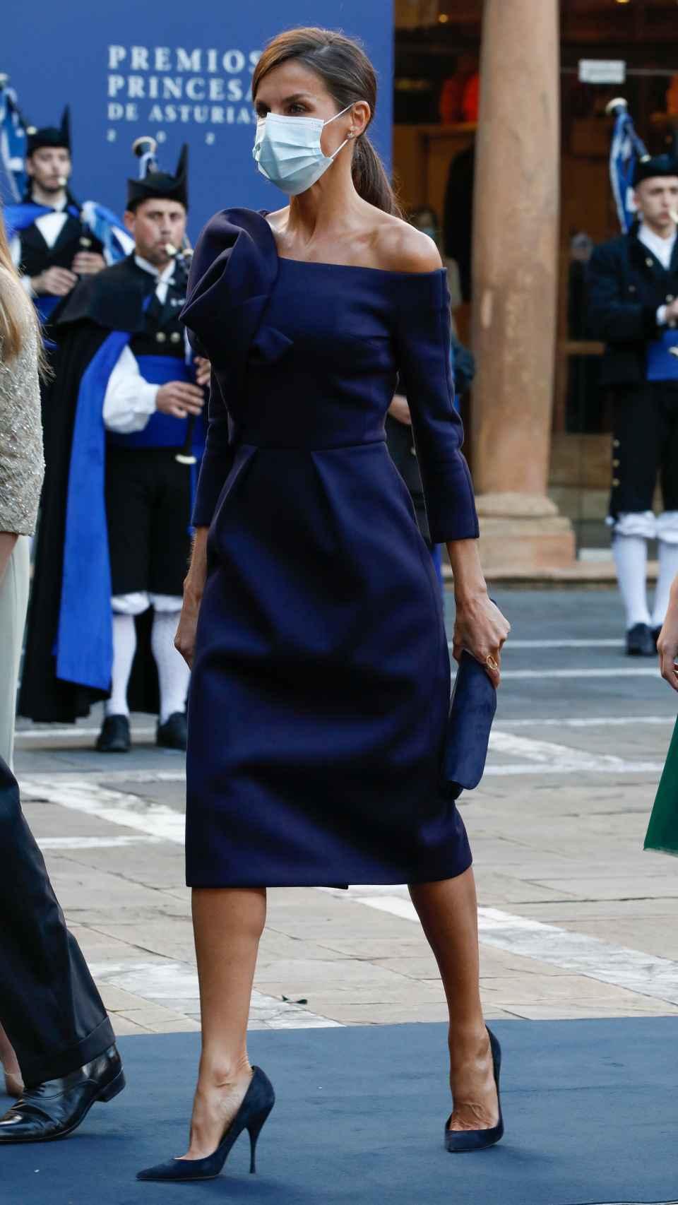 Letizia estrenó este vestido en diciembre de 2017.