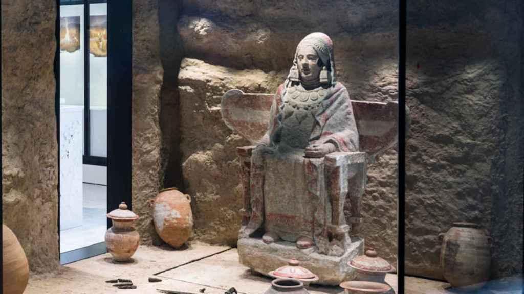 La Dama de Baza, expuesta en el Museo Arqueológico Nacional.
